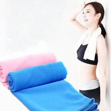 hot 1 Pc 38*90cm Creative Cold Exercise Sport Sweat Summer Reusable Ice Towel Hypothermia Enduring Instant Cooling Towels 2017