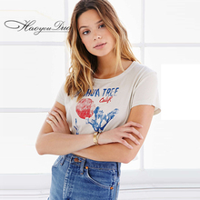 Buy T-Shirt Women Clothes Summer T Shirt Womens Clothing art floral print tee female personality letter street fashion punk for $15.53 in AliExpress store