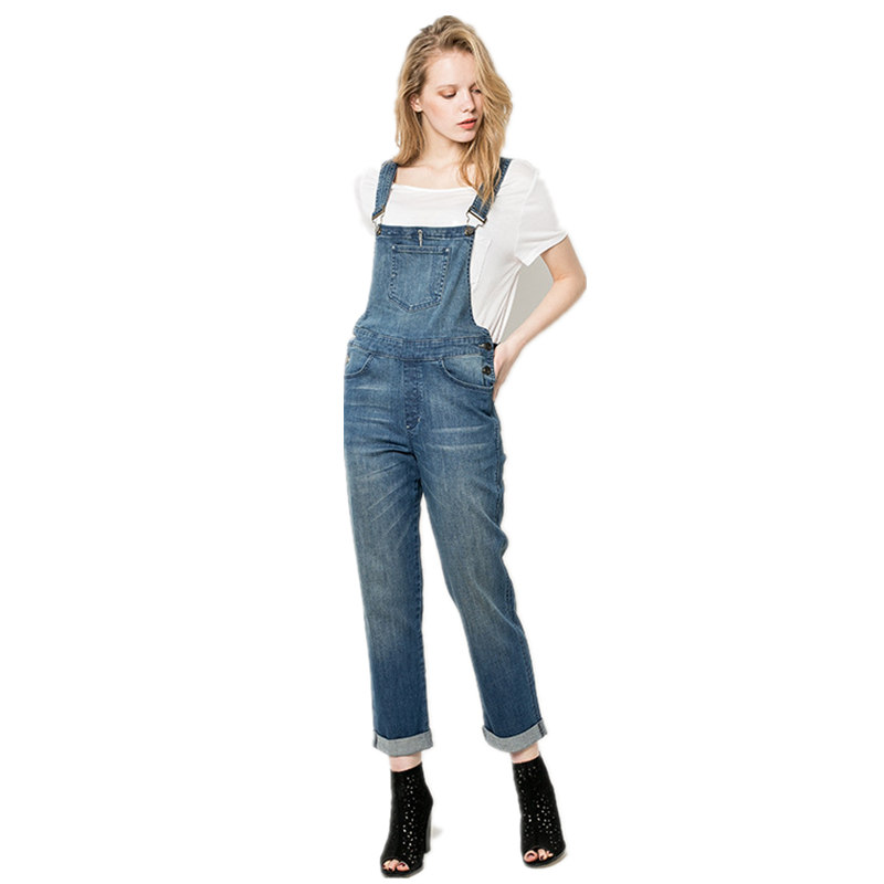 Female denim jumpsuit women elegant jumpsuit solid color new arrivals denim overalls washed casual jeans denim pants MZ1523Îäåæäà è àêñåññóàðû<br><br>