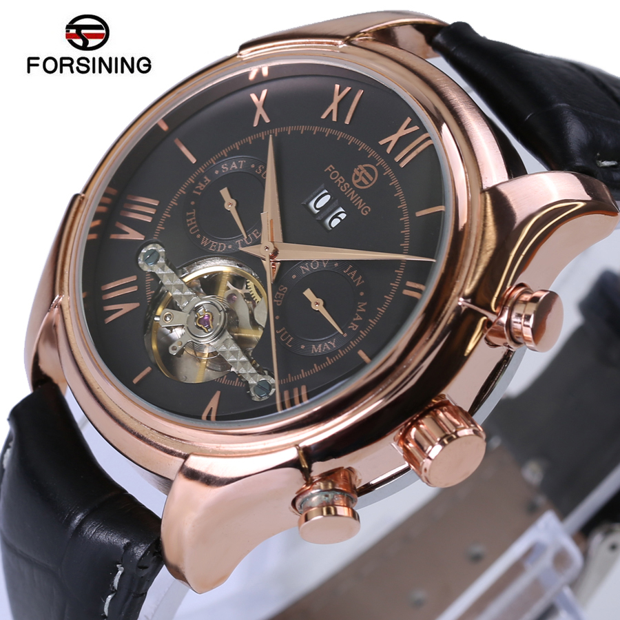 Original Forsining Mens Watches Top Brand Luxury Big Automatic Fashion Leather Sports Mechanical Watch Relogio Masculino<br>