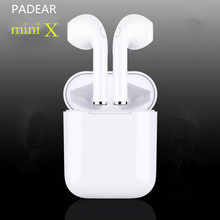 PADEAR mini X Bluetooth Earbuds Earphone Wireless Headsets Ear Double Not Air pods For Iphone Andorid Apple 6 7/8 plus(China)