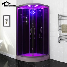 Free shipping 90cm BLACK with Steam Shower massage Corner Cabin room Cabin hydro cubicle Enclosure glass walking-in saunaD09