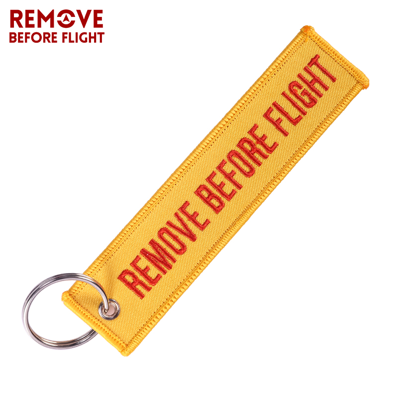 Fashion Jewelry Keychain REMOVE BEFORE FLIGHT  Keychain (3)