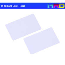 Customized logo access control use T5577 rewritable blank rfid cards blank pvc id card(China)