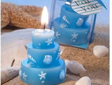 100pcs/lot Blue Ocean Style Candle Birthday Cake Wax Candle Party Christmas Wedding Star Scented Home Decoration