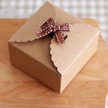 Top Sale 10Pcs Retro Mini Kraft Paper Box DIY Wedding Gift Favor Boxes Party Candy Box Mini Single Cake Box