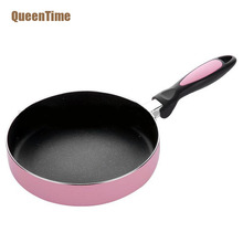 QueenTime Japanese Style 8 Inch Frying Pan Multifunctional Non-Stick Cooking Pan Creative Fry Egg Steak Pan Cooking Accessories(China)