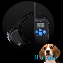 Heropie Charging waterproof remote control dog stop electric shock small medium large dog LCD Electric Pet Dog Training Collar(China)