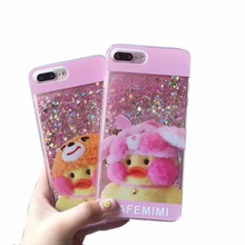 Cute Quicksand Cell Phone Cases For Apple iPhone 7 6 6S Plus Lovely Back Cover Case Protective Shell Skin Fundas Capa Para(China)