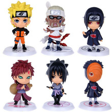 Anime Naruto pvc action figures Itachi Sasuke Obito Gaara Killer B collection model toys doll juguetes kids gift - TeiRAY toy Store store