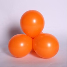 Orange balloons 50pcs / lot10 inch thick 2.2 g round balloon birthday party decoration adult helium balloon wedding supplies(China)