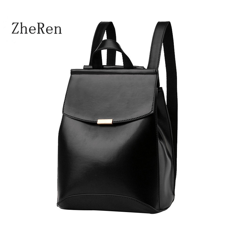 Most of the real Brand Women Fashion Leather Backpack School Bag Style Pretty artificial colors for adolescents<br><br>Aliexpress