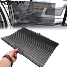 POSSBAY Universal Folding Car Sun Visor Mesh Insulation Side Window Windshield Shade 520mm*460mm Auto Curtain Window Film(China)