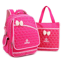 New Lace Sweet Girl's School Bags Fashion Lovely Kid Backpack School Backpack For Baby Girl Primary Backpacks Back Pack(China)