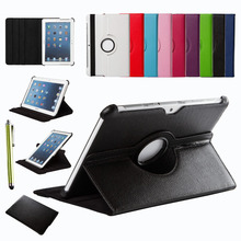 For Samsung Galaxy Tab 2 10.1 inch P5100 P5110 P7500 P7510 360 Rotating Smart Cover PU Leather Case Screen Protector Stylus Pen(China)