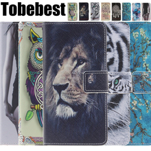 Tiger Owl Lion Flip Wallet PU Leather Case Cover For Samsung Galaxy Grand Prime G530 G530H G5308W Cases stand With Card Holder
