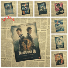 Doctor Who Nostalgic Matte Kraft Paper Poster Office Gift Room Dining Home Decor wall sticker Design(China)