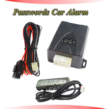 cardot new passwords car alarm system,auto arm,manual arming,passwords entry and release car immobilizer engine,universal model(China)