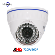 Hiseeu AHD 720P 2000TVL 960P 2500TVL IR Mini Dome Camera Analog AHD Camera  indoor IR CUT Night Vision Plug and Play for AHD DVR