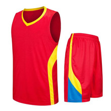 College New Basketball Jersey Top Adults Training Uniforms Customized Plain throwback jerseys Red LD-8080(China)