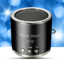 Z12 Cylinder Portable Mini Speaker Amplifier FM Sound Music Radio HIFI Support USB Flash Card Micro for SD TF MP3 Player