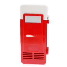 2016  Red ABS 5V 10W USB Car Portable Mini Drink Cooler  Car Boat Travel Cosmetic Fridge