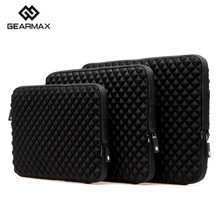 Neoprene Laptop Sleeve 13.3 Black Carrying Pouch Gearmax Notebook Sleeve 13+Free Gift Keyboard Cover for iPad Mini Case Laptop