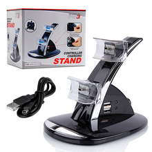 Dual USB Charger Charging Dock Stand for Sony Playstation PS3 Gaming Accessories, Free Shipping
