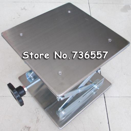 Stainless steel Small lifting platform Manual lift Tables 10x10x15cm<br>