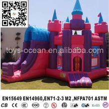 Princess castle, inflatable toy castle,bouncy castle for sale(China)