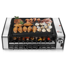 Double layer smokeless electric baking oven household electric oven automatic rotating barbecue grill  roasting machine