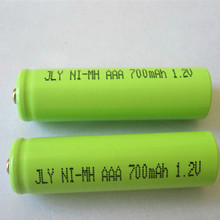 Free shipping cordless phone battery Ni-MH Ni mh Size AAA 1.2V 700mAh wireless telephone battery 10pcs/lot(China)