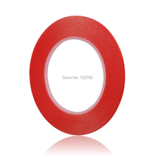 3mm*25m High Strength Acrylic Gel Adhesive Double Sided Tape Red battery sticker Adhesive Tape Sticker For iphone sticker decals(China)