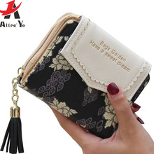 Attra-Yo! wallets 2016 women wallet ladies leather purse dollar price wallets high quality purses card holder money bag LS8736AY(China)