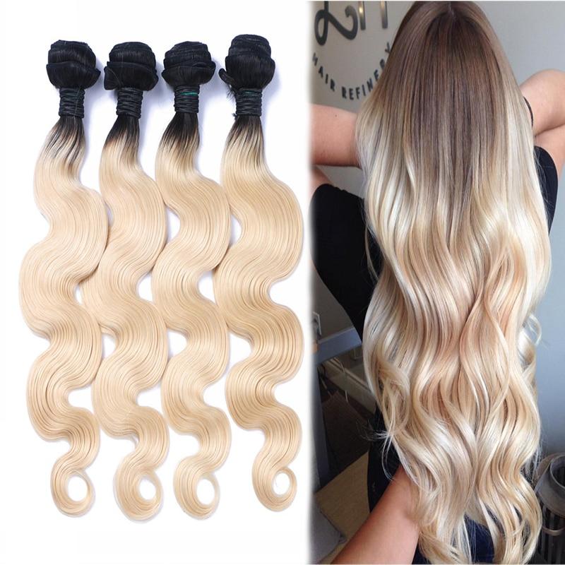 Brazilian Dark Roots #613 Ends Human Hair Body Wave 4pcs Remy Hair Ombre Weave 2tone Brazilian Virgin Hair Bundles Colored Hair<br><br>Aliexpress