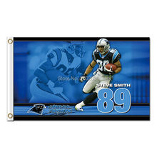 89 Steve Smith Carolina Panthers Flags Football Team 3ft x 5ft Banners Super Bowl Champions Banner Polyester Panther Banner(China)