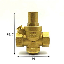 "3/4"" BSP Female Thread Brass Pressure Reducing Valve For Water Gas Length 74mm(China)"