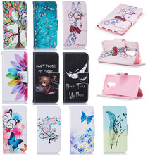 Luxury PU Leather Back Cover Case Protective Shell For Huawei Honor 6X Clamshell Wallet Flip Phone Case With Card Holder