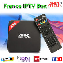 French Arabic IPTV Box Android IPTV TV Box H96 S905 1 Year Free 1200+Channels French QHDTV media player Android 6.0 Smart tv box
