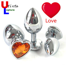 Love Shape Metal Anal Toys Butt Plug Stainless Steel Anal Plug, Sex Toys for Men and Women Adult Sex Products Prostate Massage(China)