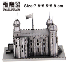 3D DIY Metal Puzzle Model Tower of London Laser Cutting Jigsaw Best Gifts For Lover Friends Children Collection Educational Toys(China)