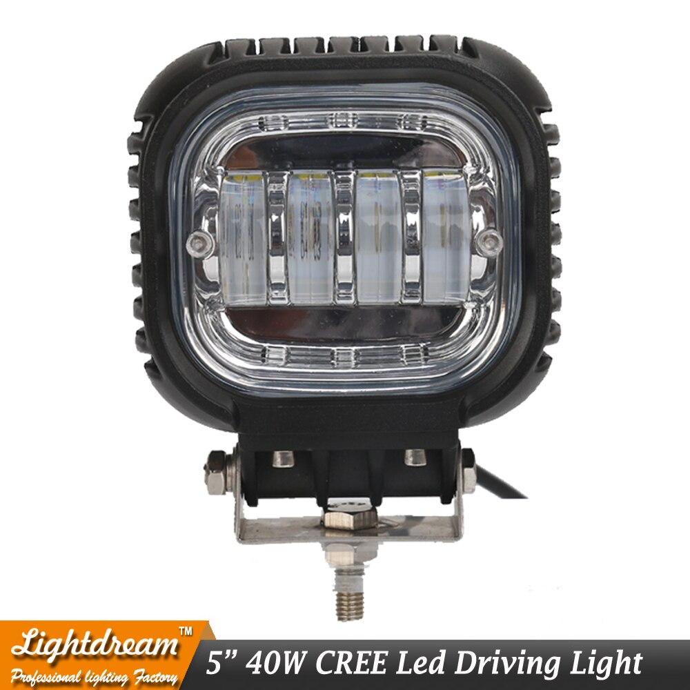 Black 40w Headlight Motorcycle led headlamp 5 Motorcycle Led Projector LED Light Bulb work light for car truck suv atv atv x1<br>