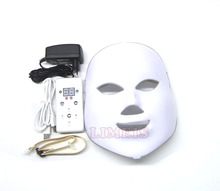 2017 upgraded PDT photon led facial mask 7 colors led light therapy skin rejuvenation wrinkle removal beauty machine facial mask(China)