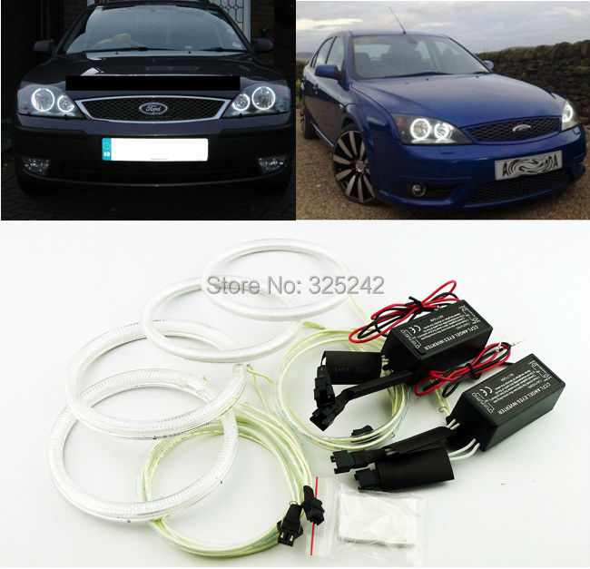 For FORD Mondeo MK3 2001 2003 2004 2005 2006 2007 Excellent angel eyes Ultrabright illumination CCFL Angel Eyes kit Halo Ring<br><br>Aliexpress