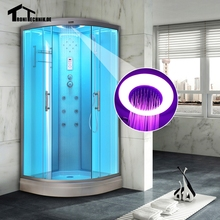 900mm WHITE NO Steam Shower massage Corner Cabin room Cabin hydro cubicle Enclosure glass sliding doors walking-in sauna roomD09
