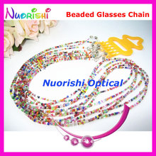 6pcs Nice Beaded Steel Wire Rope Eyeglass Sunglasses Eyewear Spectacle Chain Cords Lanyard free shipping L852(China)