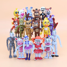 6pcs/set 10cm Five Nights At Freddy's figure FNAF Toys Sister Location Bonnie Funtime Foxy Ballora Freddy Doll PVC Action gift