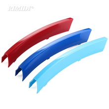3D Car Grille Sport Stripe ABS Decal Sticker fit For BMW 3 Series F30 F31 F35 E90 5 Series F10 F18 E60 X5 X6 E70 E71