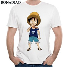 BONADIAO Nuovo Disegno di Un Pezzo della Scimmia D Luffy T Shirt Classica  Manica Corta Maglietta Anime Giapponese Trasporto Libe. 9f6ba7d268d3