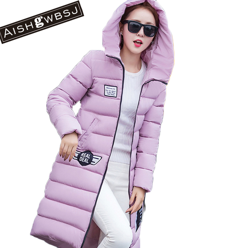 AISHGWBSJ 2017 new winter long jackets for women silm hooded coat womens korean parka with christmas hat Korean mujer PL011Îäåæäà è àêñåññóàðû<br><br>